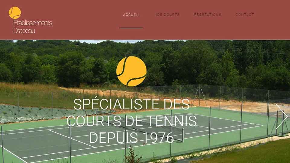 Drapeau courts de tennis