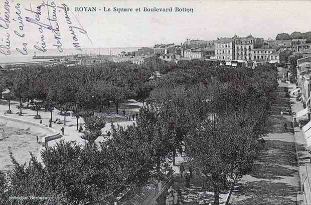 Royan carte postale ancienne, square Botton