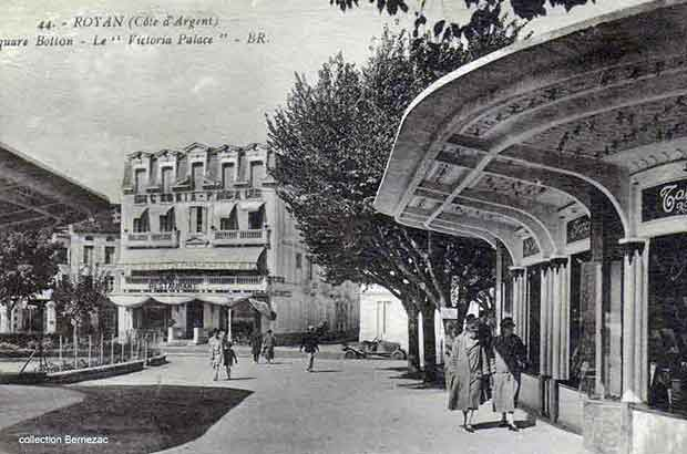 Royan carte postale ancienne, square Botton, le Victoria Palace