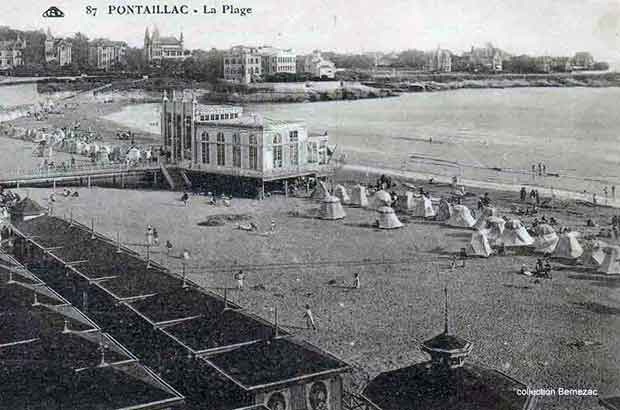 Royan Pontaillac carte postale ancienne, la Restauration