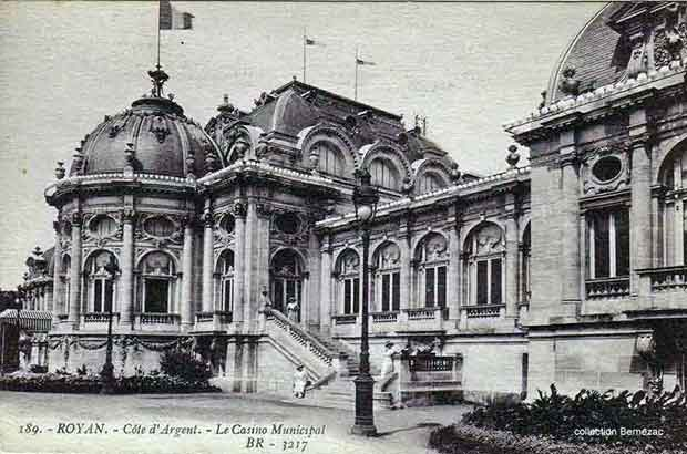 Royan carte postale ancienne, lle Casino Municipal