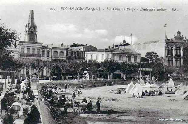 Royan carte postale ancienne, boulevard Botton