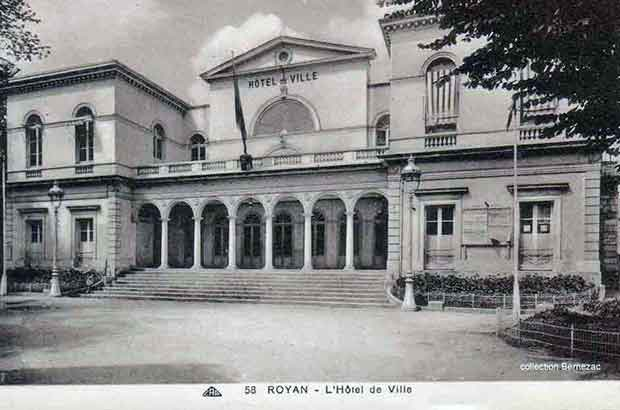 Royan carte postale ancienne, la mairie