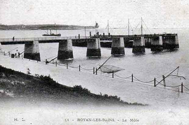 Royan le port carte postale ancienne