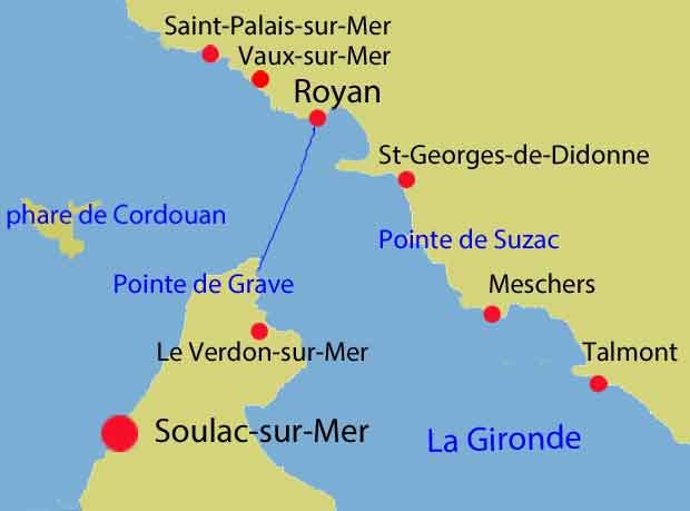 Soulac-sur-mer, carte situation